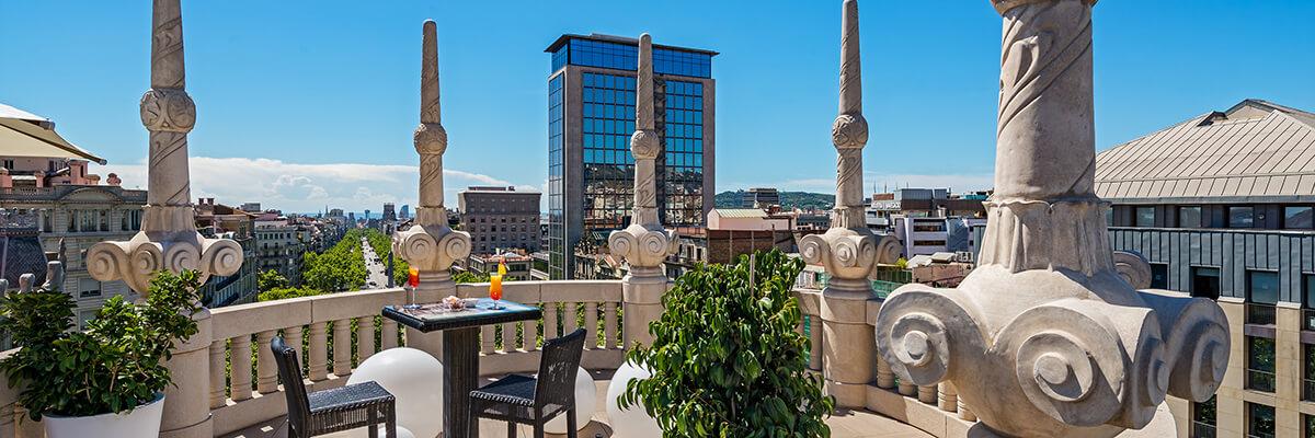 Terraza Blue View Barcelona Hotel Casa Fuster